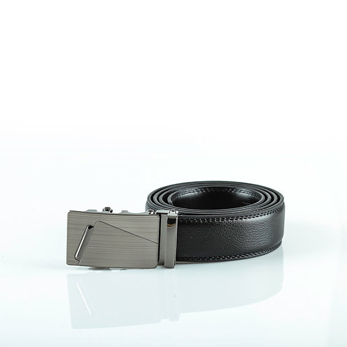 Formal Men's Belt, Gray color Automatic Buckle for Real Genuine Leather!