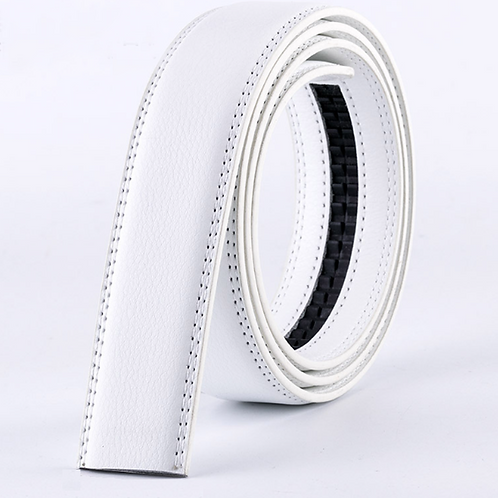 Artificial Leather Belt Strap 3,5 cm wide -WHITE