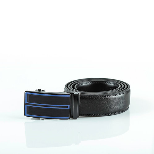 Elegant Men's Belt, Black color Automatic Buckle, Real Genuine Leather