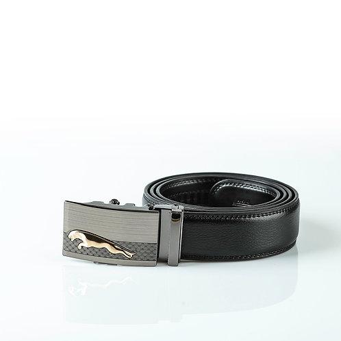 Designer Men's Belt, Silver color Automatic Buckle for Real Genuine Leather