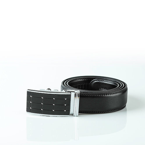 Fashion Men's Belt, Silver color Automatic Buckle for Real Genuine Leather!