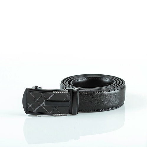Luxury Men's Belt, Black color Automatic Buckle, Real Genuine Leather