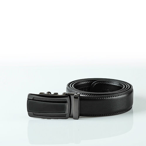 Classic Men's Belt, Black color Automatic Buckle, Real Genuine Leather