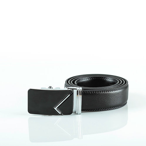 Elegant Men's Belt, Silver color Automatic Buckle for Real Genuine Leather