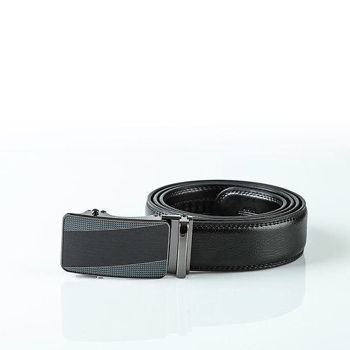 Classical Men's Belt, Black color Automatic Buckle, Real Genuine Leather