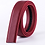 Thumbnail: Artificial Leather Belt Strap 3,5 cm wide - RED