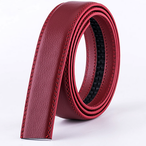 Artificial Leather Belt Strap 3,5 cm wide - RED