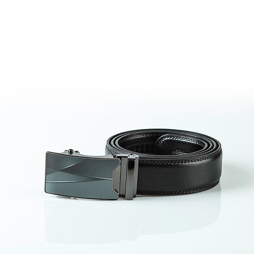 Designer Men's Belt, Black color Automatic Buckle, Real Genuine Leather