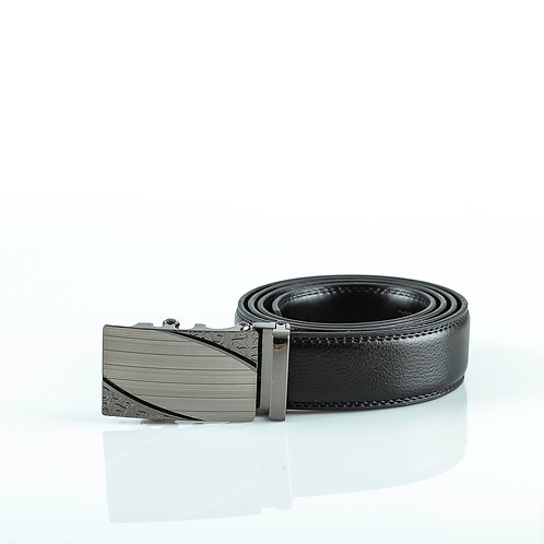Luxury Men's Belt, Gray color Automatic Buckle for Real Genuine Leather!