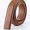 Thumbnail: Artificial Leather Belt Strap 3,5 cm wide - LIGHT BROWN
