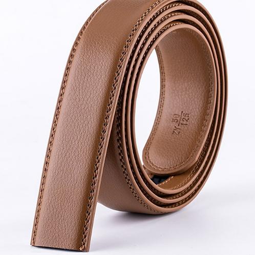 Artificial Leather Belt Strap 3,5 cm wide - LIGHT BROWN