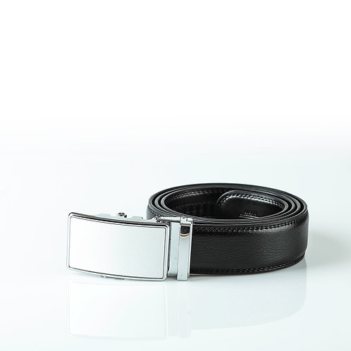 Classic Men's Belt, Silver color Automatic Buckle for Real Genuine Leather
