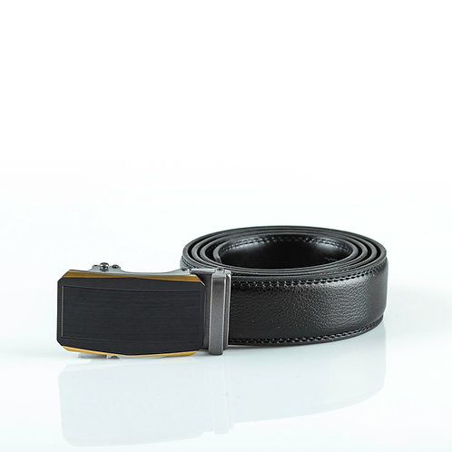 Casual Men's Belt, Black color Automatic Buckle, Real Genuine Leather