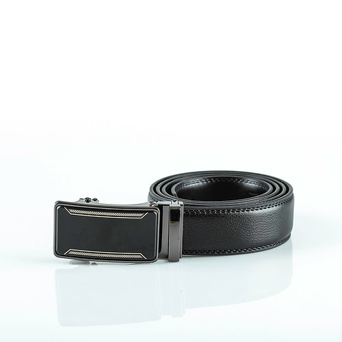 Formal Men's Belt, Black color Automatic Buckle, Real Genuine Leather