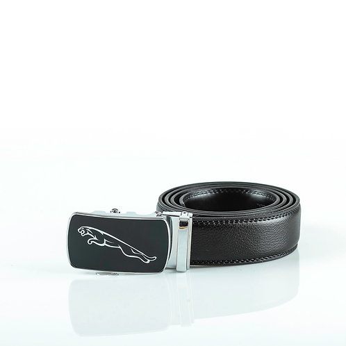 Modern Men's Belt, Silver color Automatic Buckle for Real Genuine Leather