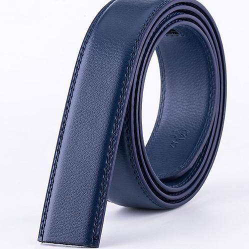 Artificial Leather Belt Strap 3,5 cm wide - BLUE