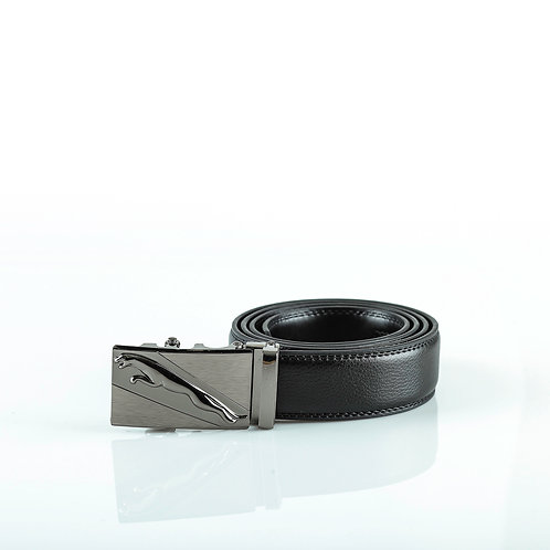 Classy Men's Belt, Gray color Automatic Buckle for Real Genuine Leather!