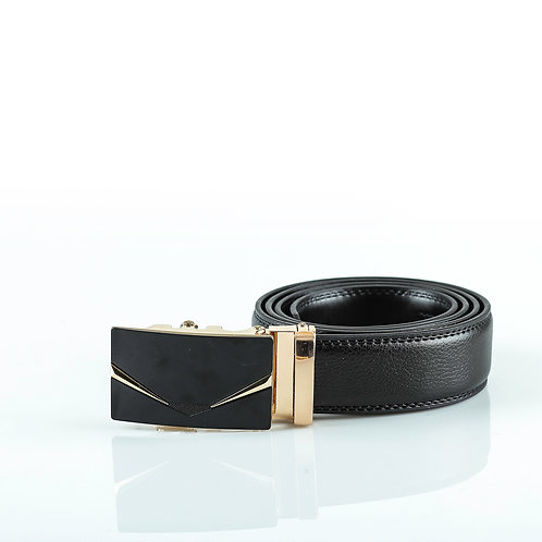 Classical Men's Belt Gold color Automatic Buckle. Real Genuine Leather!