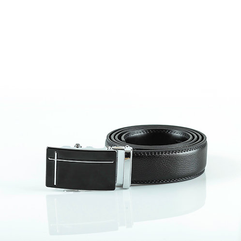 Casual Men's Belt, Silver color Automatic Buckle for Real Genuine Leather