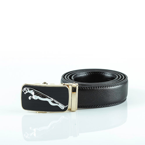 Modern Men's Belt Gold color Automatic Buckle. Real Genuine Leather!