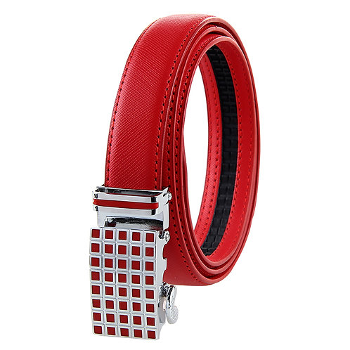 Modern Women's Belt, Silver color Automatic Buckle.