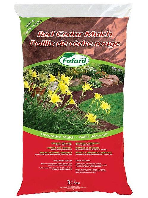 Paillis de cèdre rouge Fafard