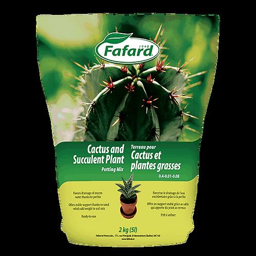 Terreau pour cactus et plantes grasses 5L