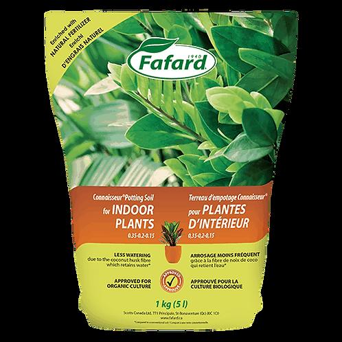 Terreau d'empotage Connaisseur pour plantes d'intérieur 10L