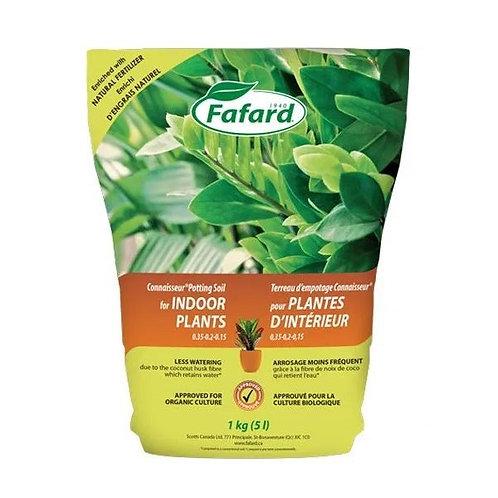 Terreau d'empotage Connaisseur pour plantes d'intérieur 5L