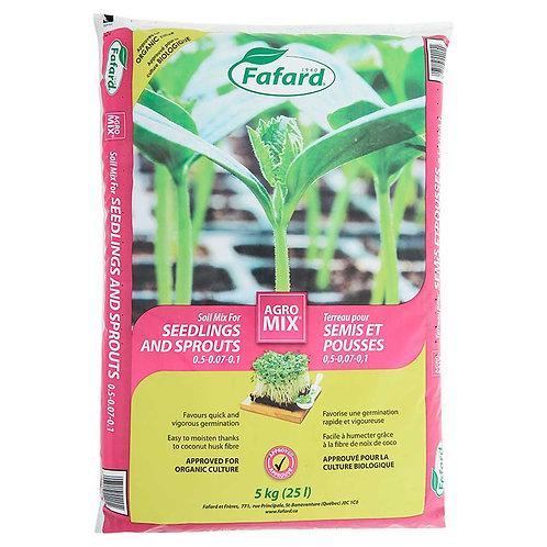 Terreau pour semis et pousses Agromix 25L