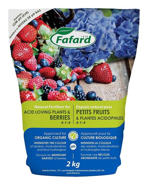 Engrais naturel pour petits fruits & plantes acidophiles
