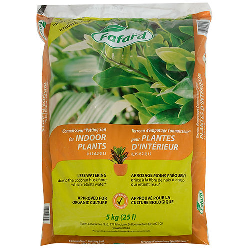 Terreau d'empotage Connaisseur pour plantes d'intérieur 25L