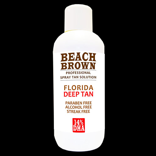 Beach Brown Spray Tan Solution 5 LitresEuropean Tan 12% or Florida Deep 14%Only