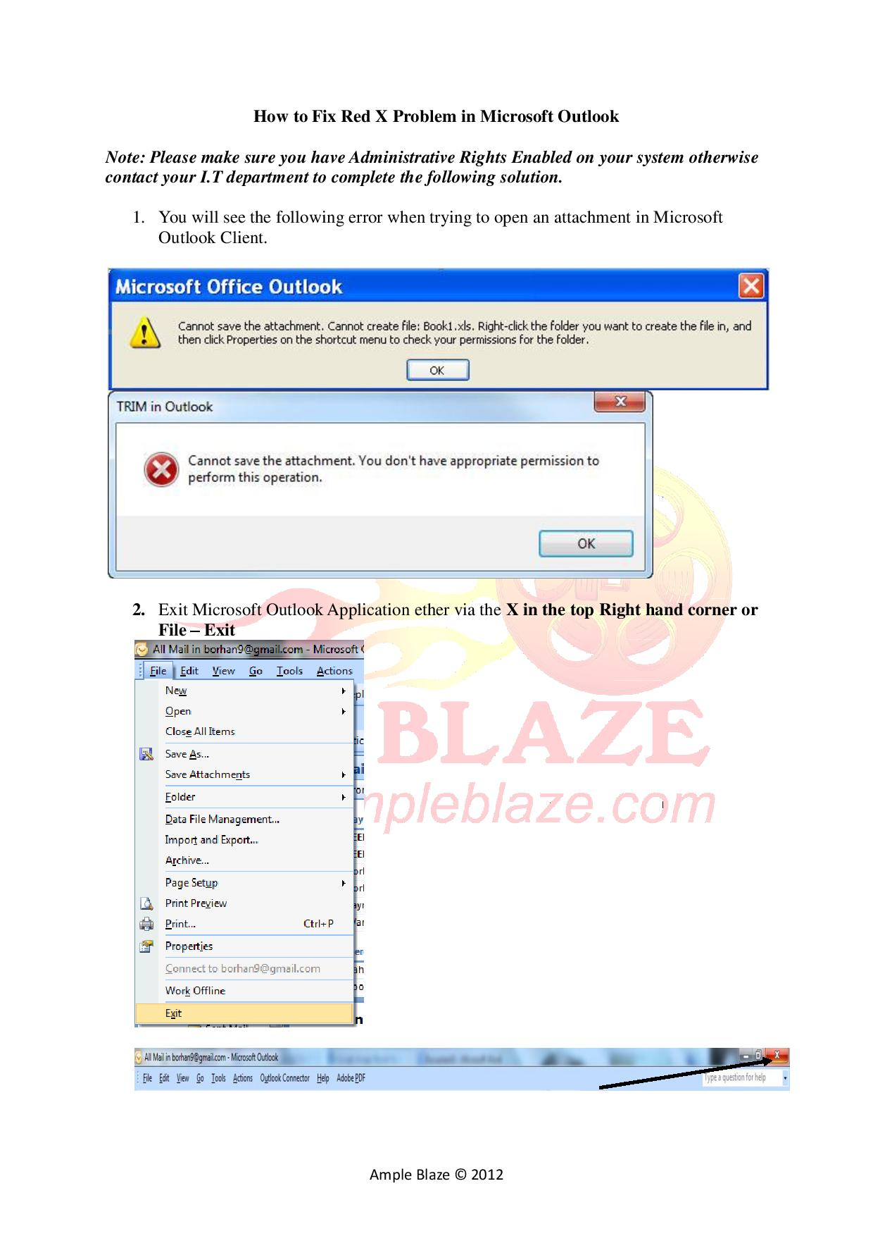 How to Fix Red X Problem in Microsoft Outlook-page-001