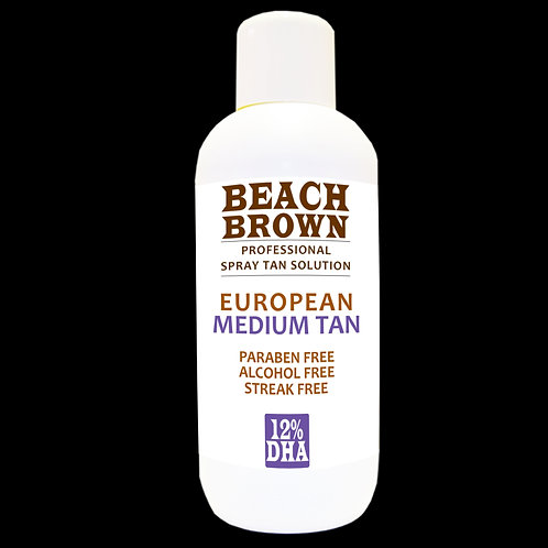 Beach Brown Spray Tan Solution European Tan 12% 1 Litre
