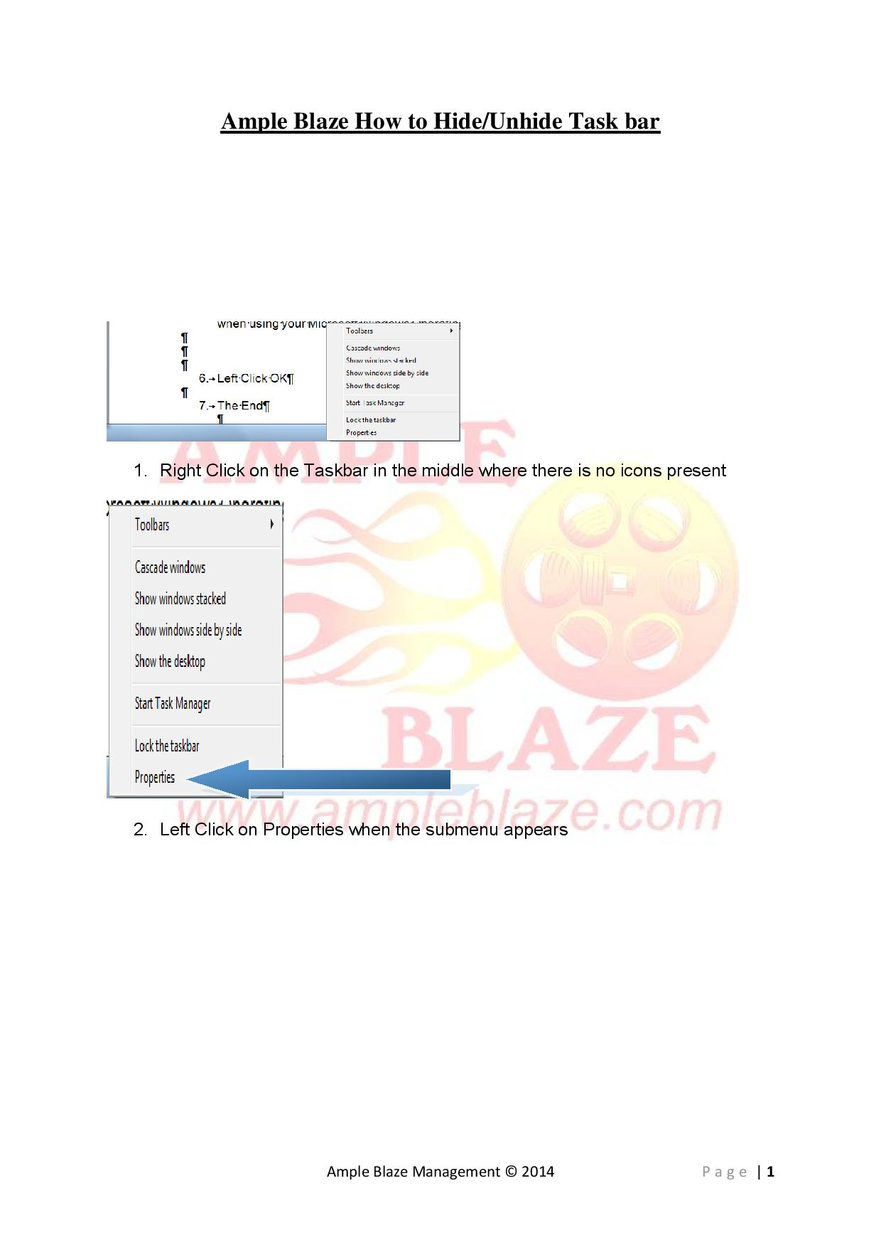 Ample Blaze How to Hide Unhide Taskbar Windows 7-page-001