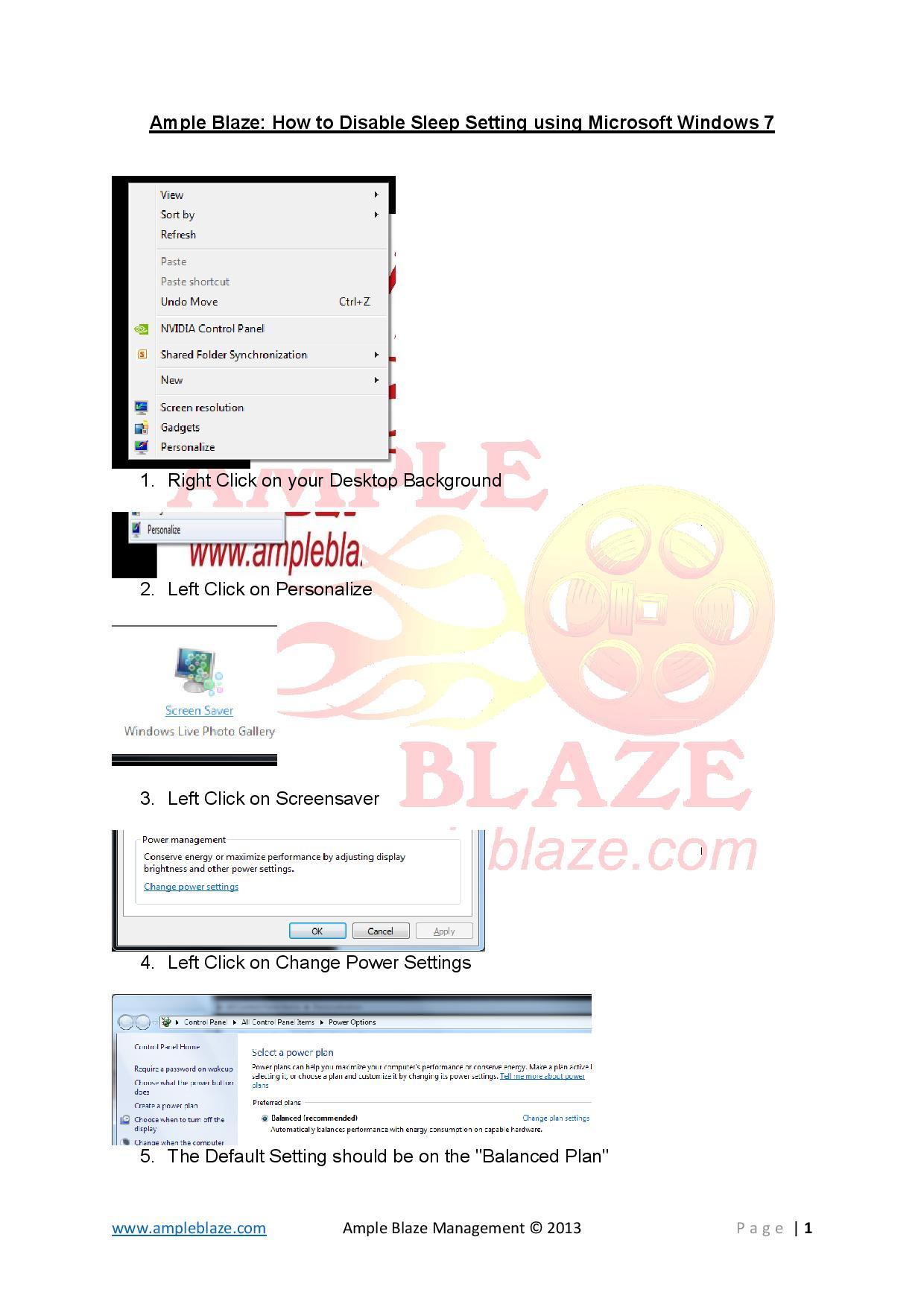 Ample Blaze Disable Sleep Setting MS Windows 7-page-001