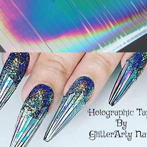 Holographic Silver Nail Tape