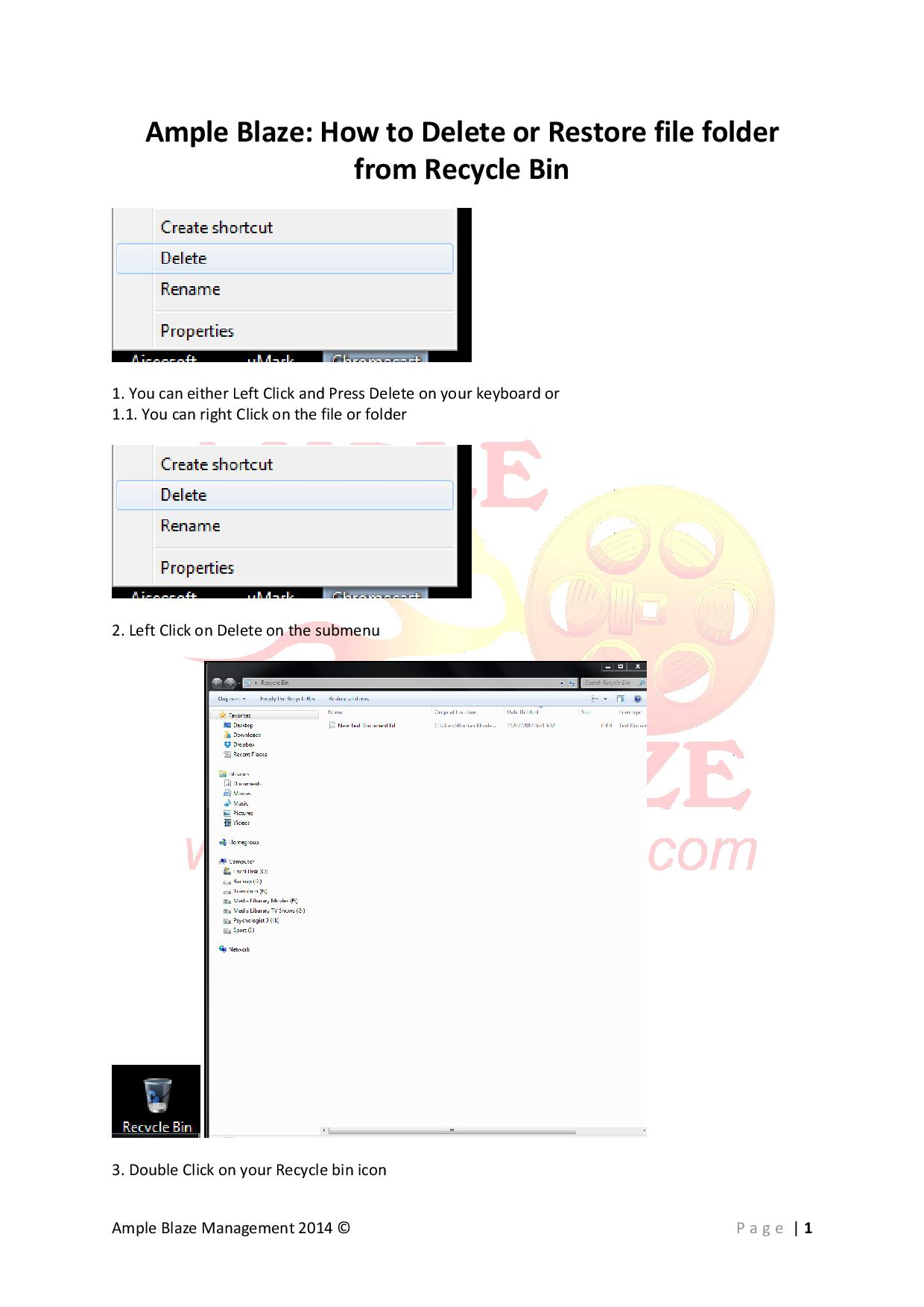 Ample Blaze How to Delete & Restore file folder from Recycle Bin-page-001