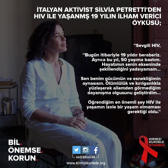 Aktivist Silvia Petretti'den ilham verici bir öykü; HIV ile 19 yıl