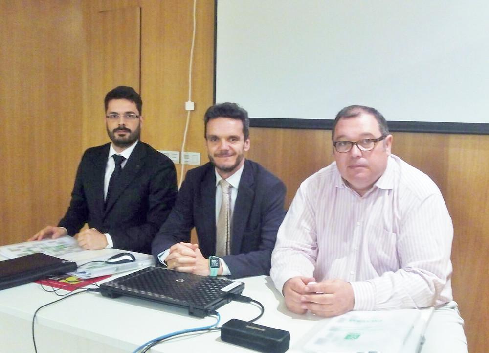 Adrián Martínez, Javier Calzadilla e Ignacio Onís