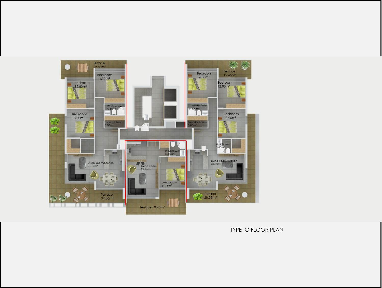 Type G Floor Plan Abelia Residence
