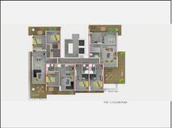 Type C Floor Plan Abelia Residence