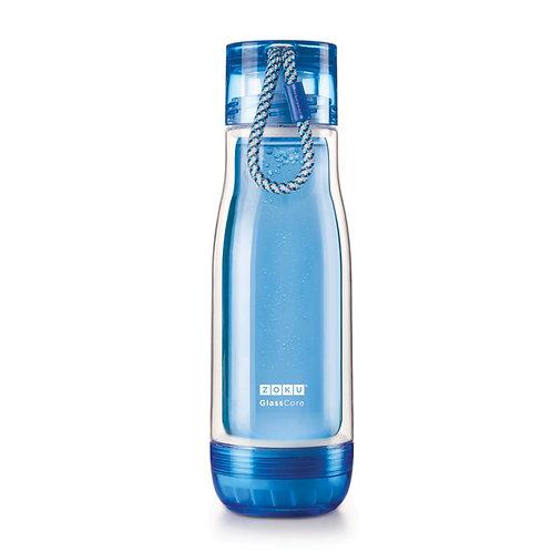 ZOKU - 藍色玻璃水樽(16oz / 470ml)