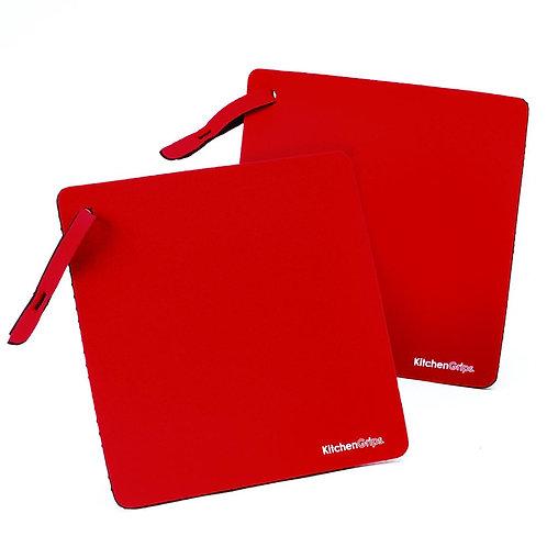 KitchenGrips 防滑隔熱墊 - 櫻桃紅(2件裝)
