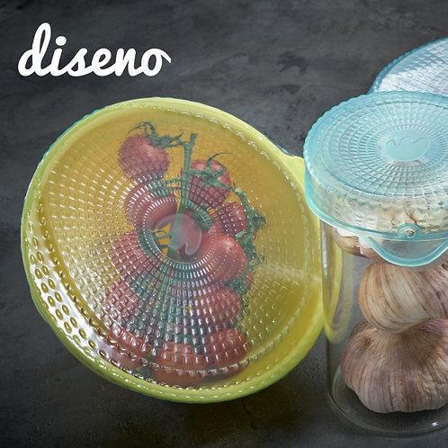 diseno 矽膠可重用保鮮密實蓋(3件裝)