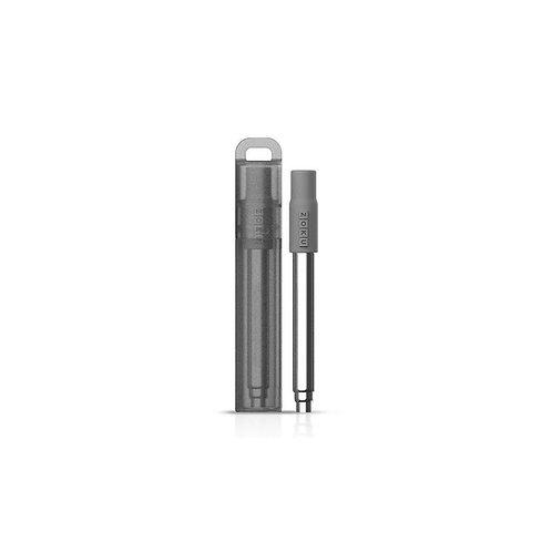 ZOKU - 伸縮不銹鋼吸管飲筒 (炭灰色)