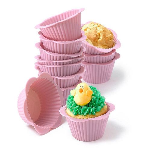 Dr. Cook 矽膠花邊烘焙蛋糕鬆餅杯(12個裝)