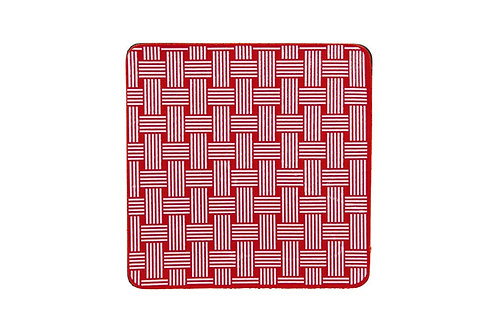 KitchenGrips 防滑隔熱墊 - 櫻桃紅 x 白色編織圖案(2件裝)