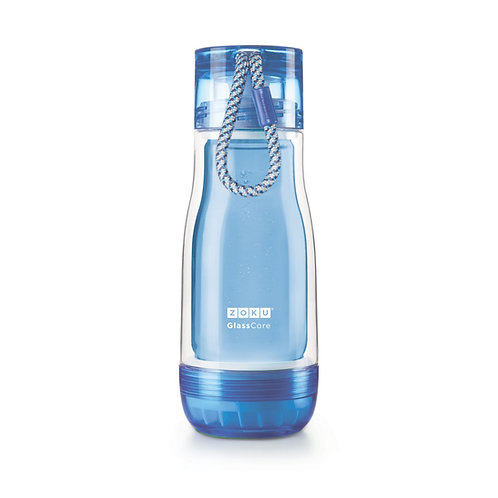 ZOKU - 藍色玻璃膽水樽 (12oz / 350ml)